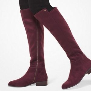 Michael Kors Suede Burgundy Over the knee boots